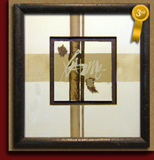 picture framing competition floated art handpainted matting