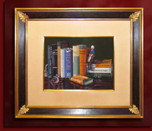 Closed Corner 22kt gold frame pastel still-life