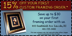 framing coupon new customer 15% off custom framing order