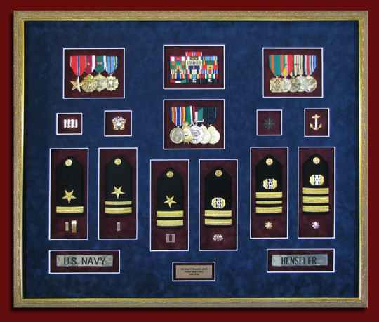 Military medals framing - Custom picture frames for military