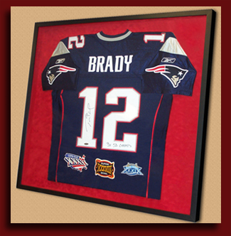 How To Frame A Jersey >> Sports Jersey Framing From Get The Picture Ri Sports Memorabilia